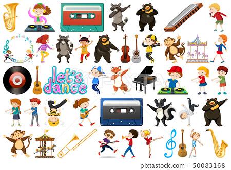 Set of music instrument 50083168