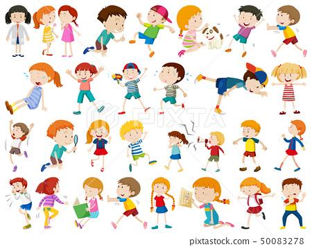 Set of children character 50083278