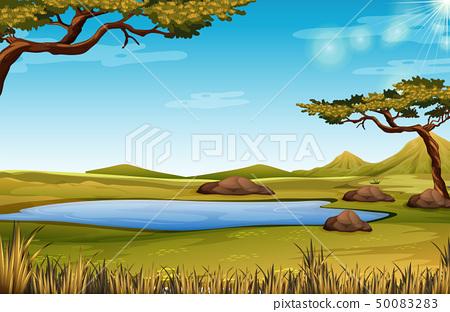 A savanna nature scene 50083283