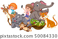 Children and wild animal 50084330