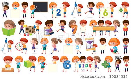 Set of children character 50084335