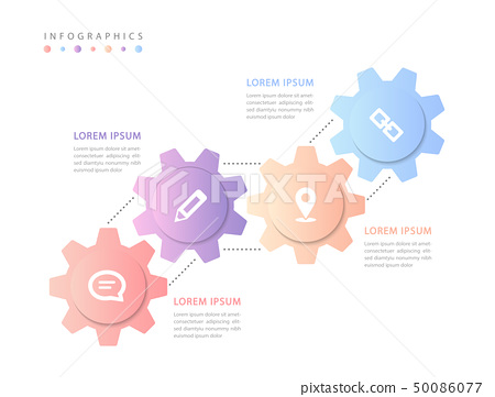 Vector infographic design UI template colorful 50086077