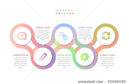 Vector infographic design UI template colorful 50086080