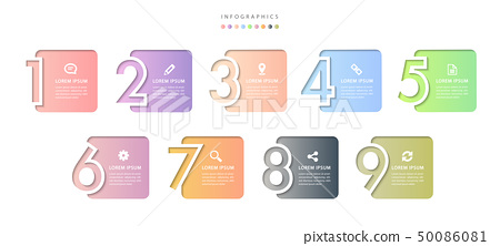 Vector infographic design UI template colorful 50086081