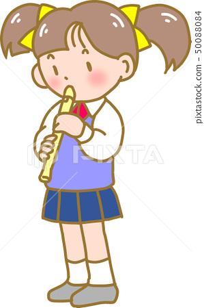 女孩吹錄音機 50088084