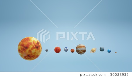 Solar universe 3d rendering for  science  50088933