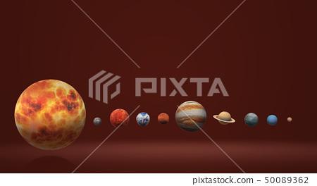 The  Solar universe 3d rendering 50089362