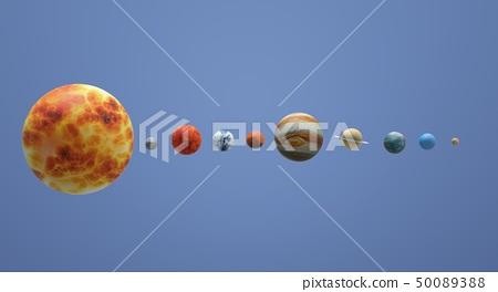 The  Solar universe 3d rendering 50089388