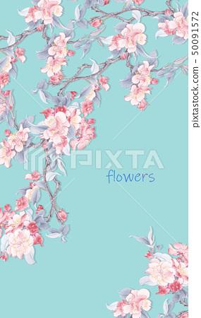 優雅的水彩花卉 50091572