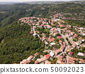 Aerial view to center of Sighnaghi town Georgia 50092023