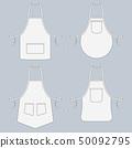 Cook uniform. Restaurant apron vector template collection 50092795