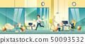 Stressed entrepreneurs in office cartoon vector 50093532
