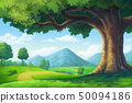 paintings for the hill Trees and paths 50094186