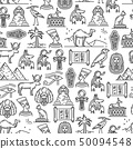 Egypt ancient culture symbols seamless pattern 50094548