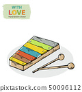 Vector xylophone kid toy hand draw in doodle style,isolated 50096112