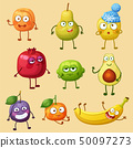 Funny fruit character 50097273