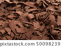 chocolate chips close up 50098239