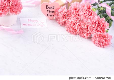 母親節康乃馨花香花束粉花瓶康乃馨頂視圖母親節康乃馨 50098796