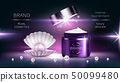 Pearl cosmetics, vector realistic advertising poster 50099480