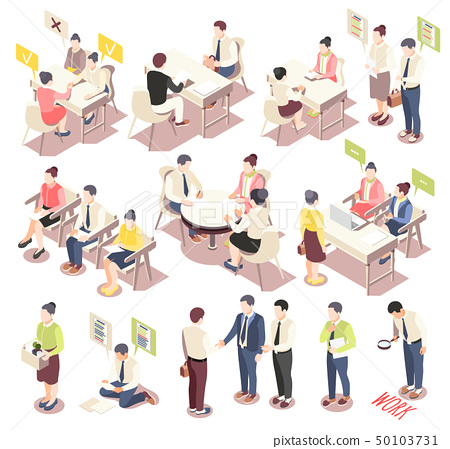 Employment And Recruitment Isometric Icons 50103731