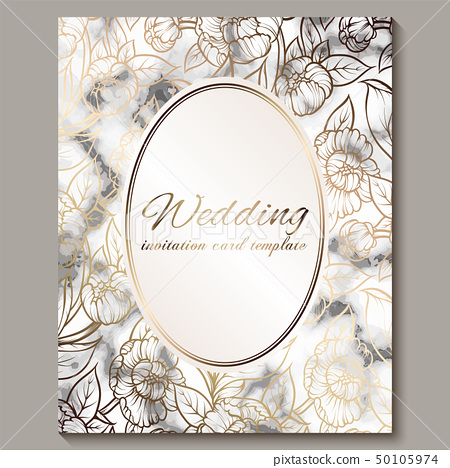 Luxury and elegant wedding invitation cards with - Stock ...
