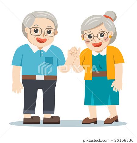 Happy Grandpa and grandma standing together. 50106330