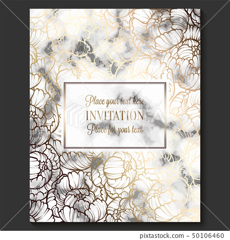 Luxury and elegant wedding invitation cards - Stock Illustration ...