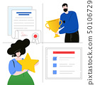 Company testimonials - flat design style colorful illustration 50106729