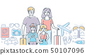 Family vacation - modern colorful line design style illustration 50107096