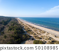 Aerial view of Tisvildeleje Beach, Denmark 50108985