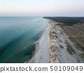 Aerial view of Melby Beach, Denmark 50109049