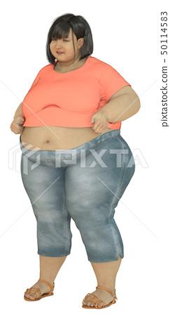 Unfit women with shirt size 50114583