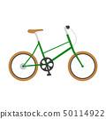 자전거의 일러스트. 세련된 녹색. 50114922