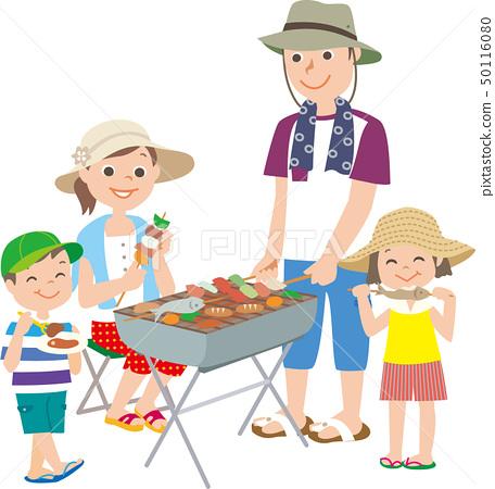 바베큐를하는 가족 50116080