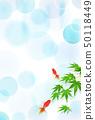 夏天问候金鱼槭树背景 50118449