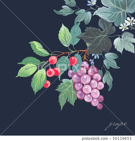 美麗的水彩玫瑰花和牡丹花 50119653