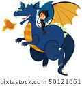 Hunter riding on blue dragon 50121061