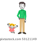 Parent and child father and daughter whole body set 50121149