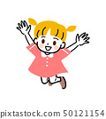 Children daughter full body jump 50121154