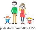 家庭父母和孩子两代父母 50121155
