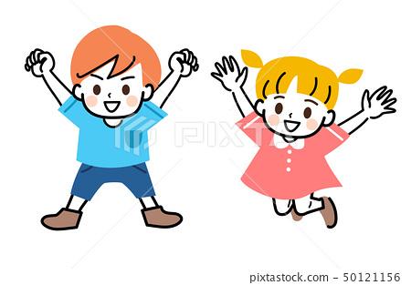 어린이 형제 남매 전신 세트 50121156