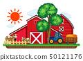 農場 穀倉 拖拉機 50121176