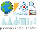 Different types of science equipments 50121245