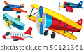 Different types of airplanes 50121361