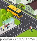 Pensioner Public Transport Isometric Illustration 50122543