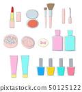 귀여운 화장품 소재 선화 베타 도장 50125122