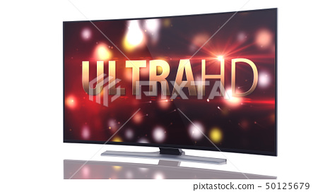 UltraHD Smart Tv with Curved screen on white 50125679