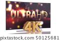 UltraHD Smart Tv with Curved screen on white 50125681