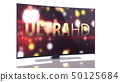 UltraHD Smart Tv with Curved screen on white 50125684