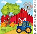 場景 農場 拖拉機 50125871